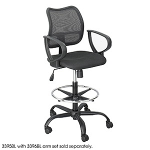 Safco Vue Mesh Back Extended Height Chair 3395BL
