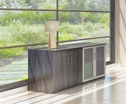 model mvlc medina low wall cabinet with gray steel finish