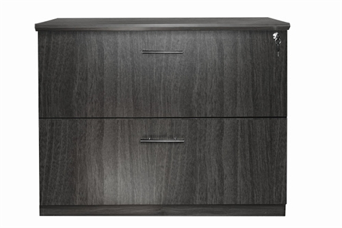 medina 2 drawer lateral file with gray finish