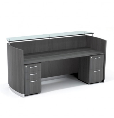 medina reception desk mnrsbf with gray steel finish