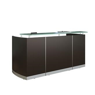 medina glass top reception desk