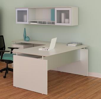 sea salt laminate medina l-shaped desk with hutch