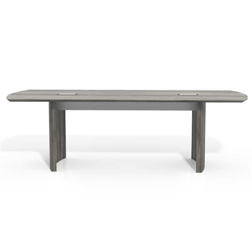 medina gray steel conference table side view