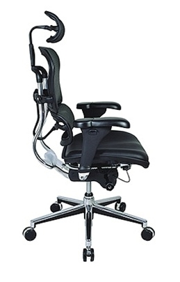 Eurotech Black Leather and Mesh Ergohuman Office Chair LEM4ERG