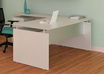 medina l-shaped desk in sea salt
