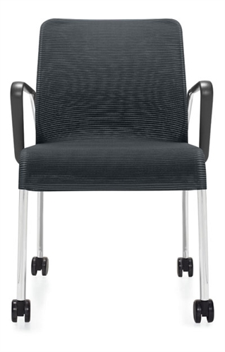 Global 5942C Lite Series Mesh Side Chair with Arms and Casters (24 Color Options Available!)