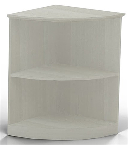 Mayline Medina Textured Sea Salt Corner Bookcase MVBQ2