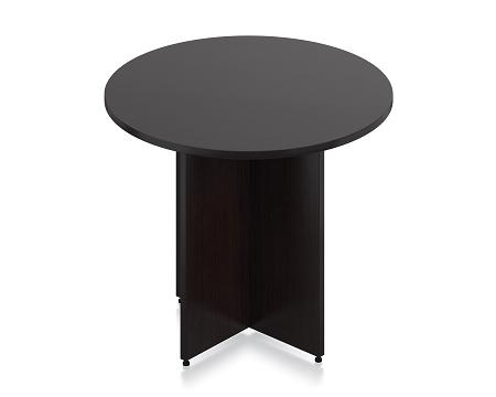 SL36R-AEL Round Conference Table with Espresso Finish by Offices To Go