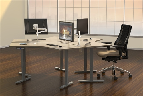 Mayline ML 2 Stage Height Adjustable 120 Degree Surface Table 5248DLH (Multiple Finish Options!)