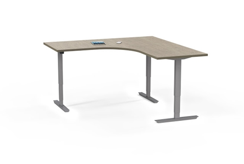 Mayline ML 3 Column L Shaped Ergonomic Office Table 53366LH (Multiple Finish Options!)