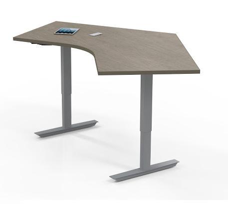 "Mayline ML 3 Stage 48"" x 30"" Height Adjustable Ergonomic Table 5348DLH (Multiple Finish Options!)"
