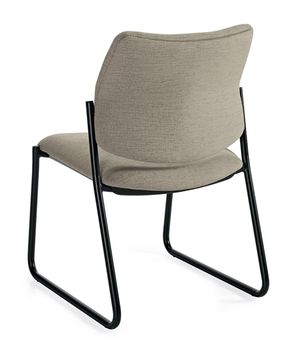 Global 6903 Sidero Armless Sidechair with Sled Base