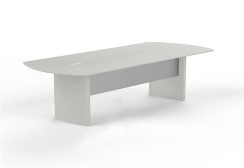 medina 8' white conference table mnc8tss