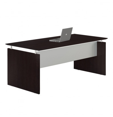 "medina 72"" floating top desk with mocha finish"