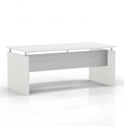 "medina 72"" floating top desk with sea salt finish"