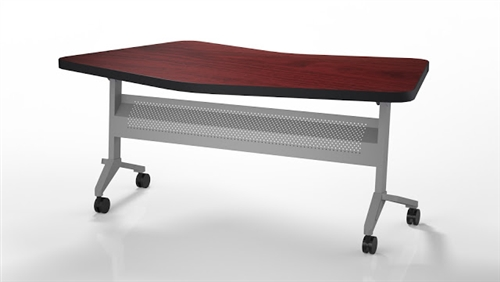 Mayline Model LT24 Flip-N-Go Transitional Table with Silver Base