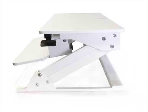 Systematix Volante White Height Adjustable Desktop Attachment