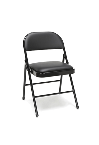 OFM Essentials 4 Pack of Padded Metal Folding Chairs ESS-8210