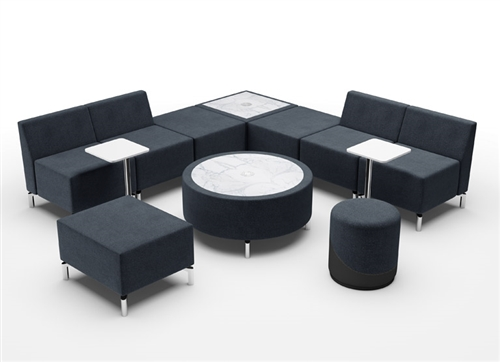 Woodstock Jefferson Modular Lounge Set with Powered Tables