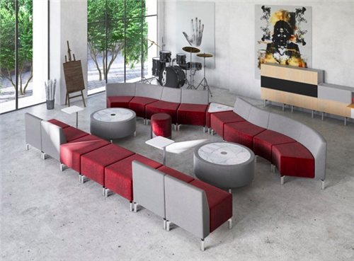 Woodstock Jefferson Smile Modular Seating and Tables Configuration