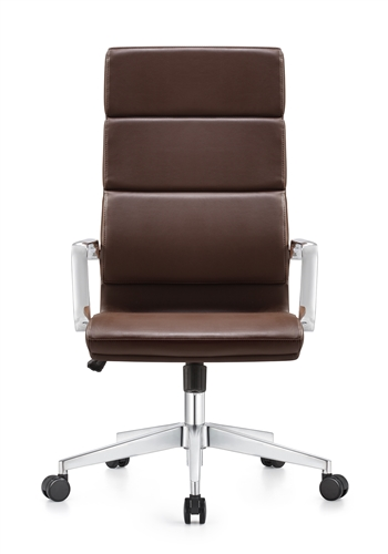Woodstock Jimi High Back Brown Leather Office Chair