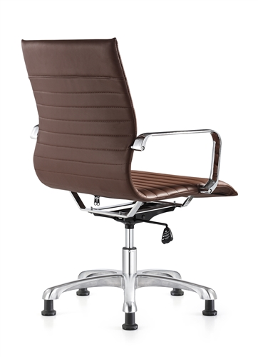 Woodstock Marketing Janis Brown Leather Side Chair