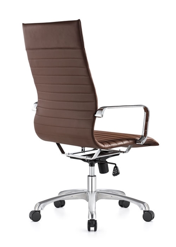 Woodstock Marketing Janis High Back Brown Leather Office Chair