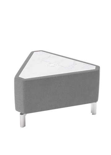 Woodstock Marketing Jefferson Triangular Coffee Table with Powered Marble Top