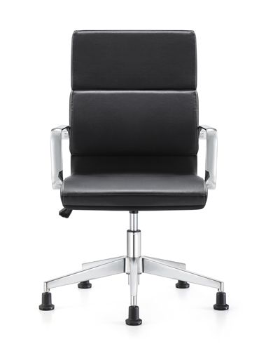 Woodstock Marketing Jimi Contemporary Black Leather Side Chair