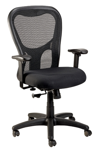 Eurotech Seating Apollo Black Mesh Back Computer Chair MM9500