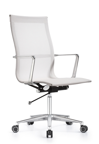 Woodstock Marketing Joan Contemporary White Mesh Office Chair