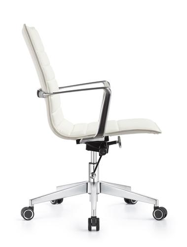 Woodstock Marketing Joe Cloud White Leather Boardroom Chair