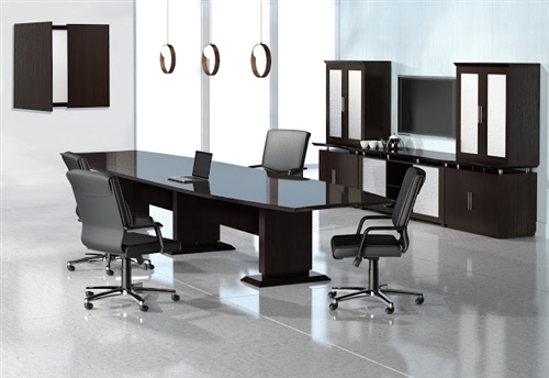 Mayline STC12 Sterling Series 12' Boat Shaped Conference Table