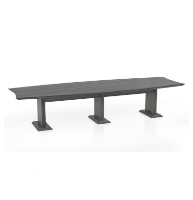 Mayline STC12 Sterling Series 12' Boat Shaped Conference Table (3 Finish Options Available!)