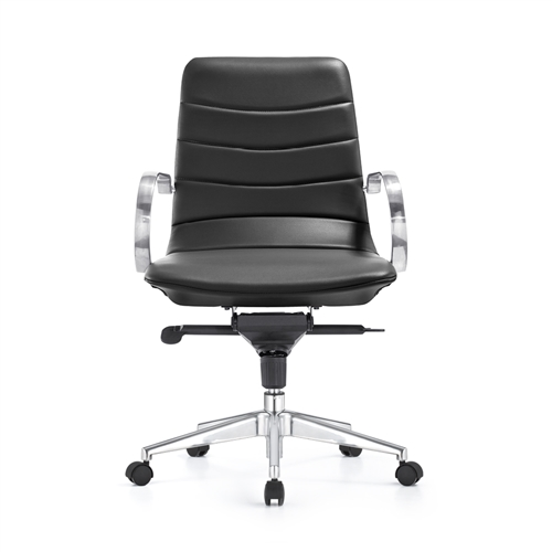 Woodstock Marketing Marie Carbon Black Mid Century Modern Conference Chair