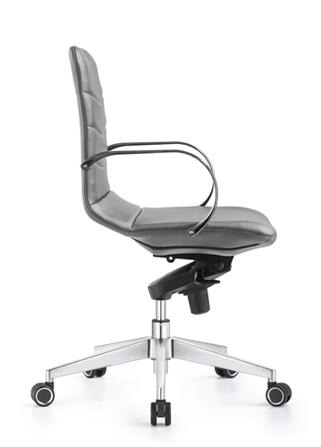 Woodstock Marketing Marie Midtown Gray Ribbed Conference Chair