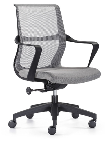 Woodstock Marketing Ravi Contemporary Gray Mesh Conference Chair with Gray Seat
