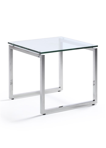 Woodstock Marketing Sly Mid Century Accent Table with Glass Top