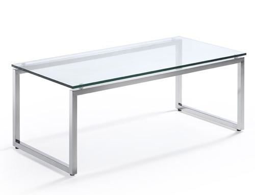 Woodstock Marketing Sly Series Mid Century Coffee Table with Glass Top
