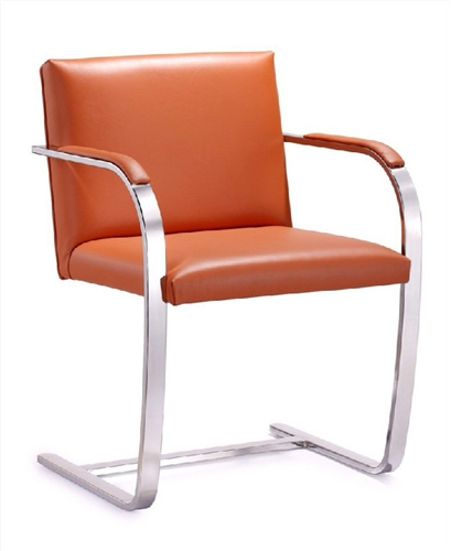 Woodstock Marketing Tan Leather Arlo Side Chair