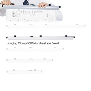 "Safco 36"" Hanging Clamp 50046 (6 Pack)"