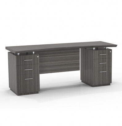 Mayline Sterling STEC72B Double Pedestal Executive Credenza (3 Finishes Available!)