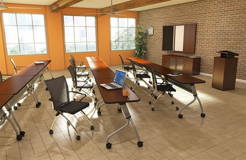 "Mayline Sync Series 24"" x 72"" Training Room Table SY2472"