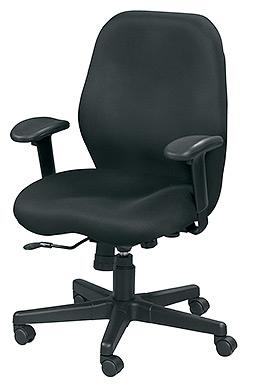 Eurotech Seating Aviator Black Mesh Upholstered Modern Task Chair MM5506