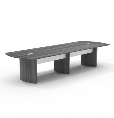 12' medina power ready conference table mnc12 with gray steel finish