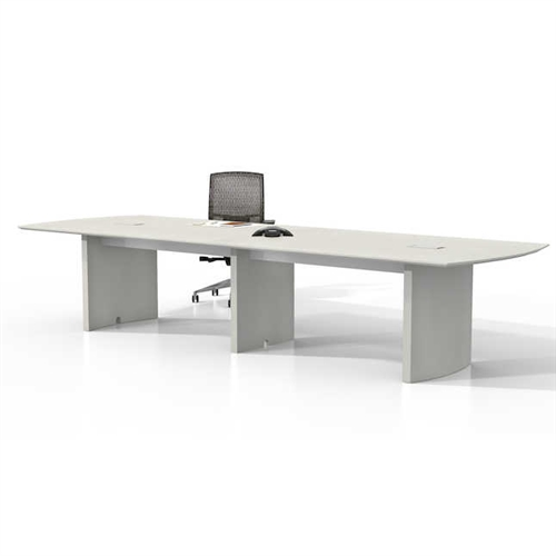 12' medina power ready conference table mnc12 with sea salt finish