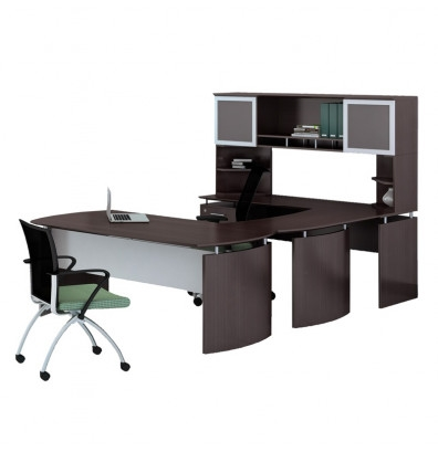 mocha laminate medina u shaped desk mnt35ldc