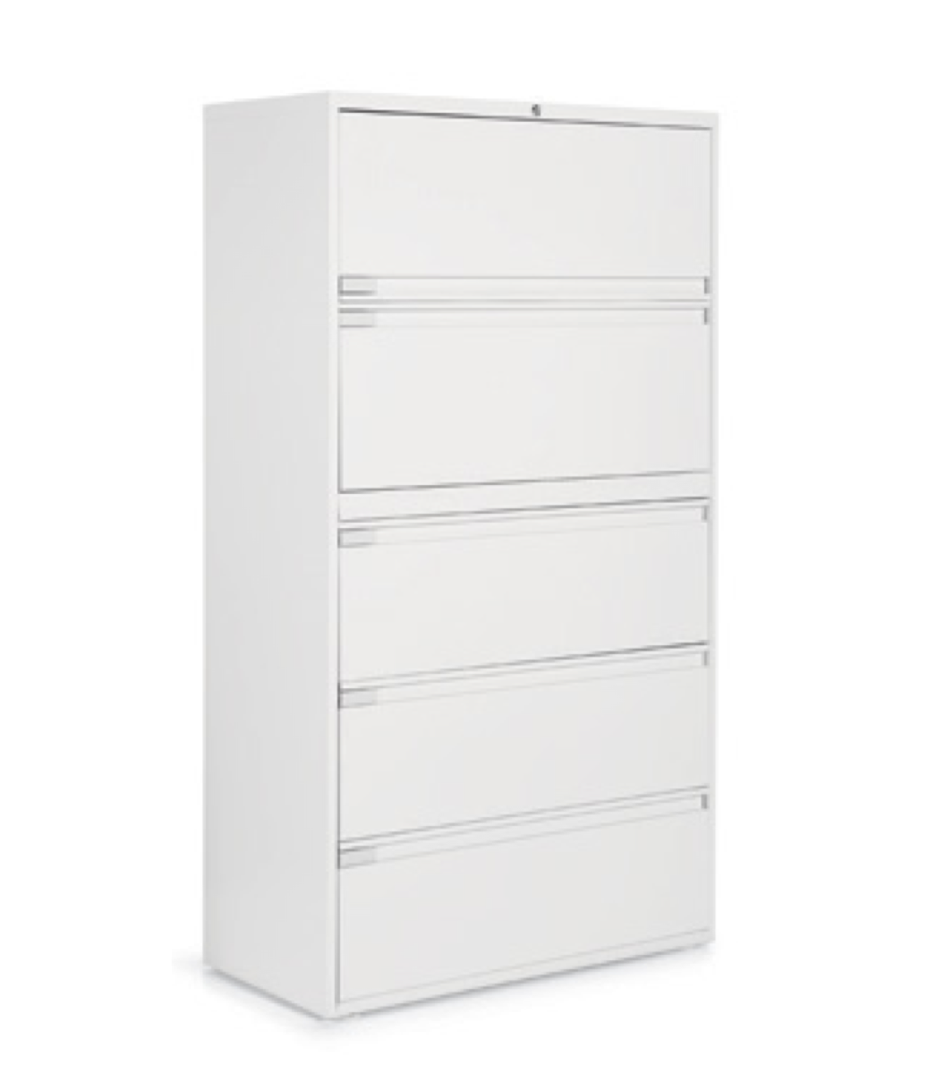 5 drawer global lateral filing cabinet