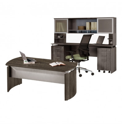 gray steel medina desk with credenza and hutch mnt38lgs
