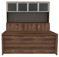 amber executive desk with hutch